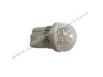 T10 Wedge 4LED White in clear dome cover