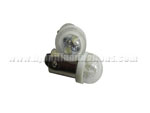 BA9S 2LED with Clear dome cover White